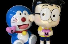 Mô hình doraemon và nobita bằng nhựa composite cao cấp